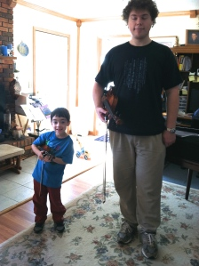tiny violin student